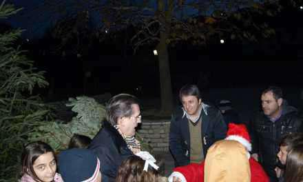 Άναψε το Χριστουγεννιάτικο δέντρο στον Αγ. Ανδρέα