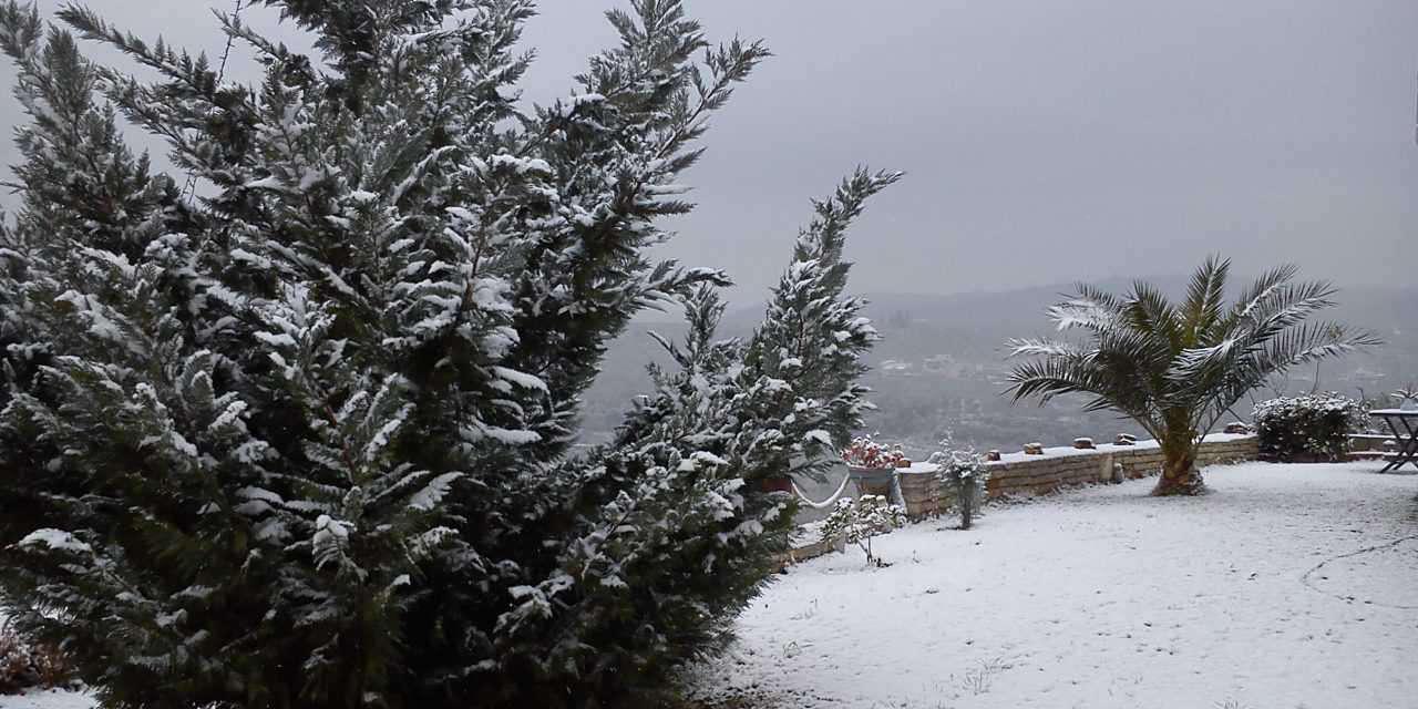 Πυκνώνει το χιόνι στο Αγρίνιο- το έστρωσε βορειοανατολικά της πόλης!