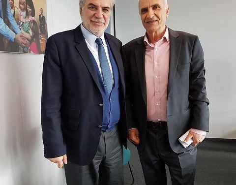 Ο Γ.Βαρεμένος με τον Ευρωπαίο Επίτροπο
