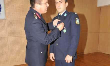 Απονομή του Αστυνομικού μεταλλίου « Αστυνομικός Σταυρός » σε Ανθυπαστυνόμο της Ελληνικής Αστυνομίας