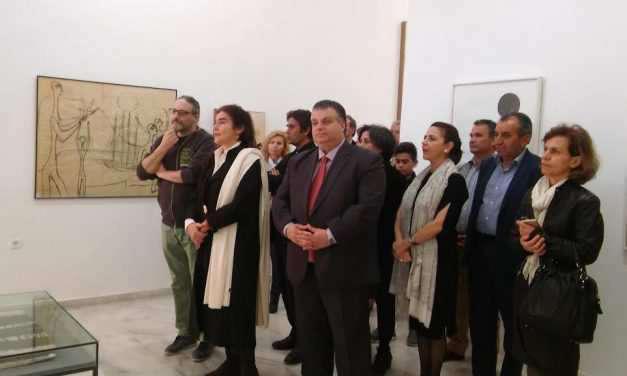 Επίσκεψη της Υπουργού Πολιτισμού στο Κέντρο Χαρακτικών Τεχνών Μουσείο Βάσως Κατράκη στο Αιτωλικό