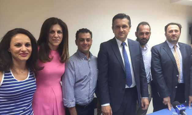 Γιώργος Σιορίκης και (η πολιτευτής) Παρασκευή Κατσιώπη σε θέσεις της ΝΟΔΕ